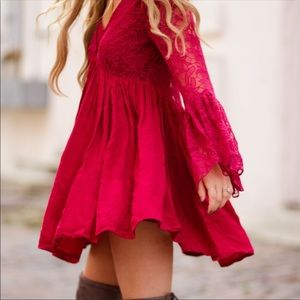 Free People With Love From India Bell Sleeve Dress